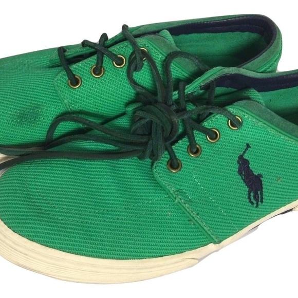 Marrone ciotola noioso  Polo by Ralph Lauren Shoes | Ralph Lauren Polo Green Canvas Sneakers 11 |  Poshmark